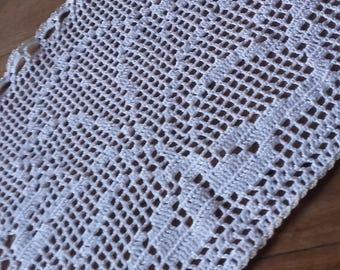 Curtain sheer crochet pretty scallop