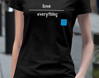 Love T Shirt Women in TriBlack