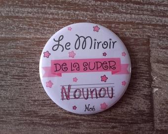 """Super nanny"" personnaise Pocket mirror"