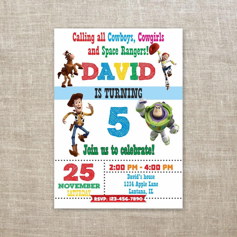 Toy Story Birthday Invitation, Toy Story Party Invites, Woody ...