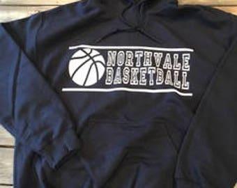 Custom Basketball Sweatshirt, Basketball Team Hoodie