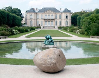Canvas Print, Paris Photography, French Chateau, Paris Art, Travel Fine Art Photograph, French Home Decor, Wall Art, Paris Museum Gardens