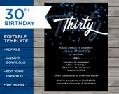 30th Birthday Invite, Cus...
