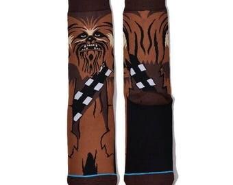 chewbacca star wars socks super high quality stitch the force last jedi