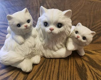 Vintage Collectible Homco Cats Figurine