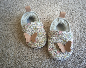 Booties liberty katie and millie leather sequin and nude