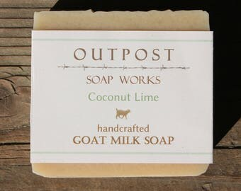 Handmade - Goat Milk Soap - COCONUT LIME - All Natural - Cold Processed