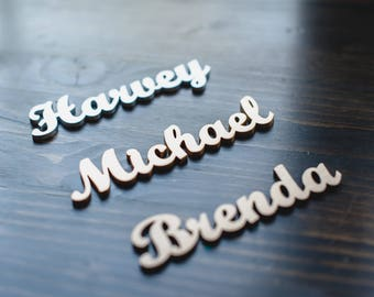 Wedding place cards, Wedding guest names, Wedding seating, wood name cards, guests names, wedding place settings