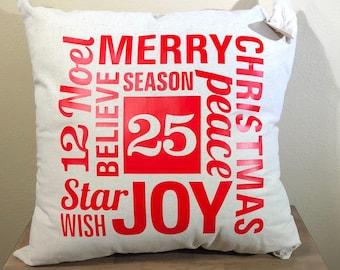 Natural Canvas Pillow - Christmas