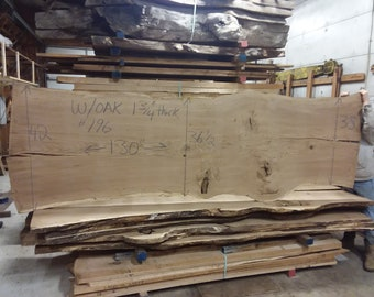 White Oak Live Edge Slab #196