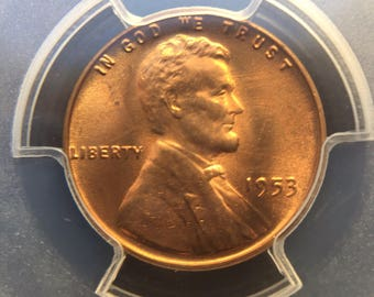 1953 Lincoln Cent MS65RD PCGS
