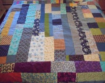 Full/Queen patchwork quilt