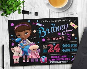 Doc McStuffins Invitation - Doc McStuffins Birthday Invite