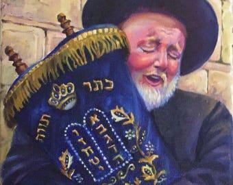 Jew with Torah by Olga Magazanik