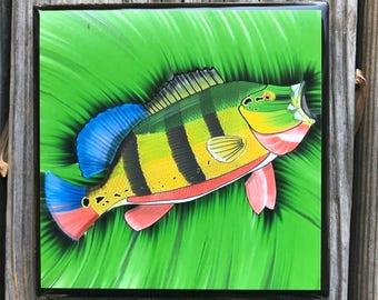 Peacock Bass Coasters, Fishing Coasters, Fish Coasters