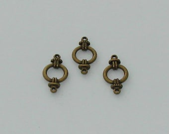 5 connectors circle antique brass - Ref: 1000 CB
