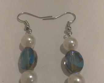Multi Color Pearl Bead Earrings