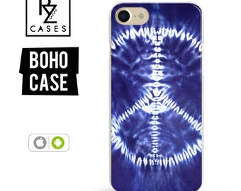 Boho Phone Case, iPhone 7 Case, indigo Phone Case, iPhone 6 Case, Tie Dye Phone Case, iPhone 6 plus Case, Samsung Galaxy Case, Bohemian Case