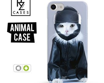 Cat Phone Case, Cute Cat Phone Case, Space Case, iPhone 7, Animal Case, Cat Lover, Gift for Her, iPhone 7 Plus, iPhone 6S, Samsung Galaxy