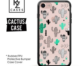 Cactus Phone Case, Cactus iPhone Case, Cactus Case, Cacti, iPhone 7, Gift for Her, iPhone 7 Plus, iPhone 6S, Rubber, Bumper Case