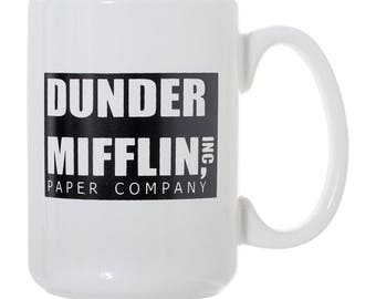 Dunder Mifflin - World's Best Boss - The Office 15 oz Deluxe Large Double-Sided Mug