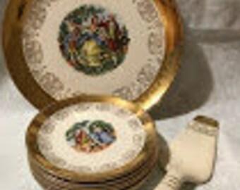 Crest of Gold Plate Set