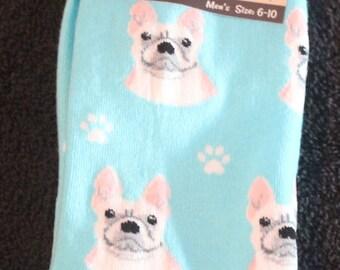 French Bulldog Dog Breed Lightweight Stretch Cotton Adult Socks