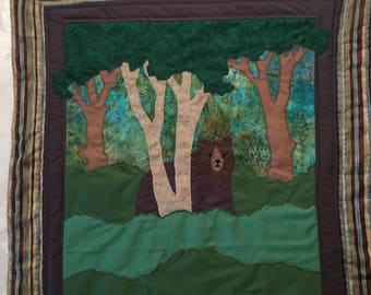 Bear Woods Wall Hanging by StitchArtByReggie
