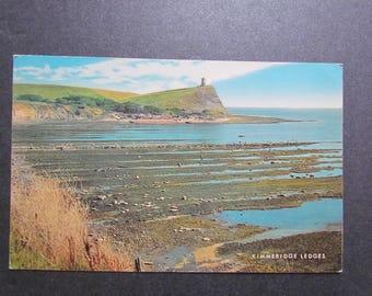 vintage postcard kimmeridge ledges  - 60's 70's