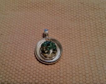 White Quartz and Turquoise pendant