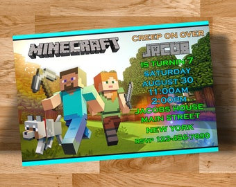 Minecraft invitation card