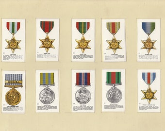 Set of 10 Military Cigarette Cards (106)