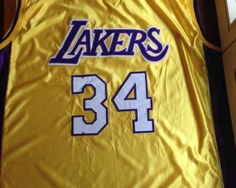 NBA Los Angeles Lakers Basketball Shirt Jersey Champion #34 Shaquile O'Neal XXL