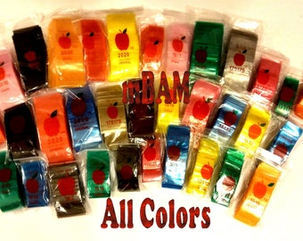 100 All COLORS LOT Apple Ziplock Baggies All Sizes Yellow Green Gold Black Blue Pink Purple and more