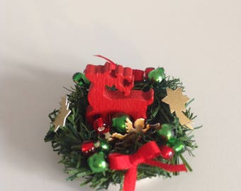 Christmas arrangement in 1/12 Miniature doll house Dollhouse