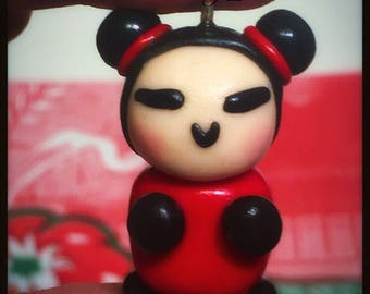 Polymer clay Pucca charm