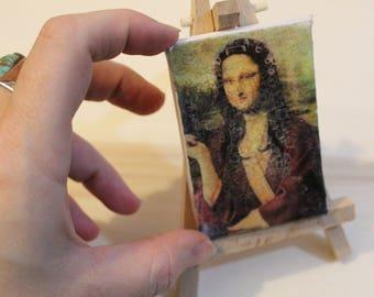 Monnalisa Housewife-Handmade miniature print on canvas