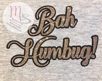Bah Humbug T Shirt,  Glitter, Bah Humbug, Female, Woman, TShirt, Top