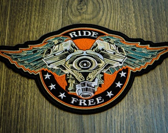 Biker Moto Patch Free Ride