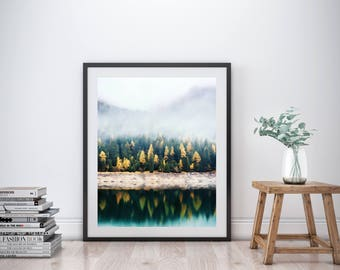Forest Art Print, Printable Wall Art, Forest Print, Landscape Print, Landscape Art, Landscape Wall Art