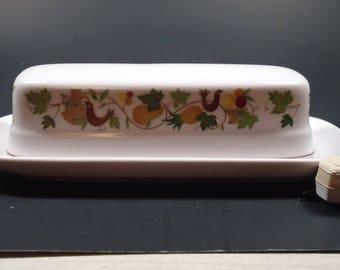 noritake Progression Homecoming China Butter dish. #9002.