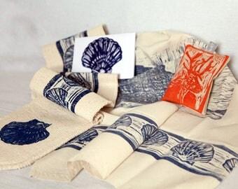 West Bay and Reindeer Nataviva bundle, with tea towel, oven glove, card and lavender bag