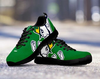 Notre Dame Football Fan Custom Running Black Shoes/Sneakers/Trainers - Ladies + Mens Sizes