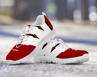 Wisconsin Badgers Football Fan Custom Running Shoes/Sneakers/Trainers - Ladies + Mens Sizes