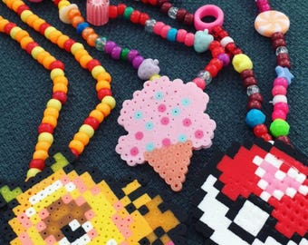 Fancy Perler Necklaces