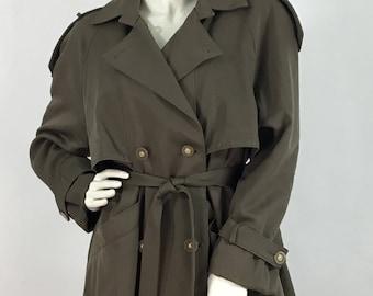 80s Melanie Lyne 100% wool trench coat/vintage trench coat