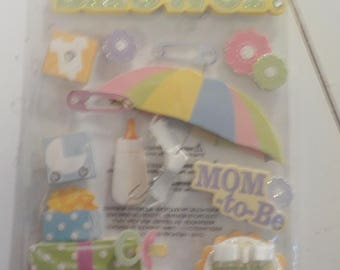 Baby Shower Stickers Embellishments Die Cut