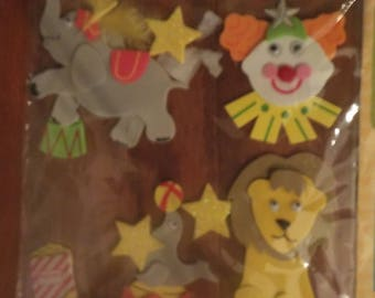 Circus Stickers and Embellishments