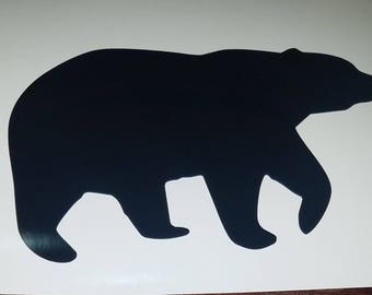 Bear silouette decal