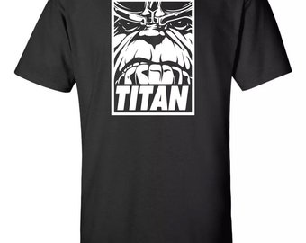 Titan Thanos Obey Inspired T-Shirt Sz:S-2XL